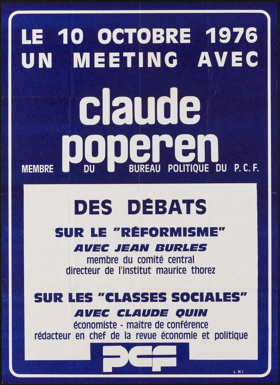 Ressource «Le 10 octobre 1976, un meeting avec Claude Poperen ...