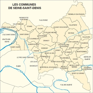 Seine saint denis carte